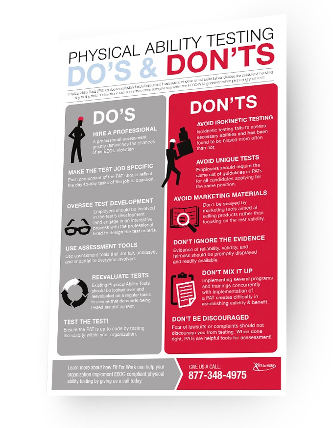 Infographic: Physical Ability Testing: Do's & Don'ts