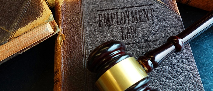 EEOC law book with gavel