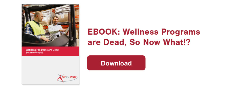 eBook Wellness Programs are Dead so Now What